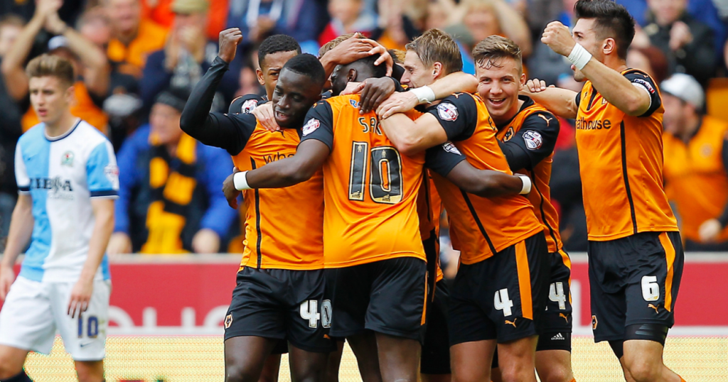 Wolves celebrate blackburn